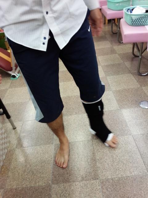 歩行療法開始の様子